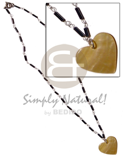 Wholesale philippine natural shell pendants philippines exported philippine exported black cut glass beads in metal looping 35mm heart pendant aloadofball Image collections